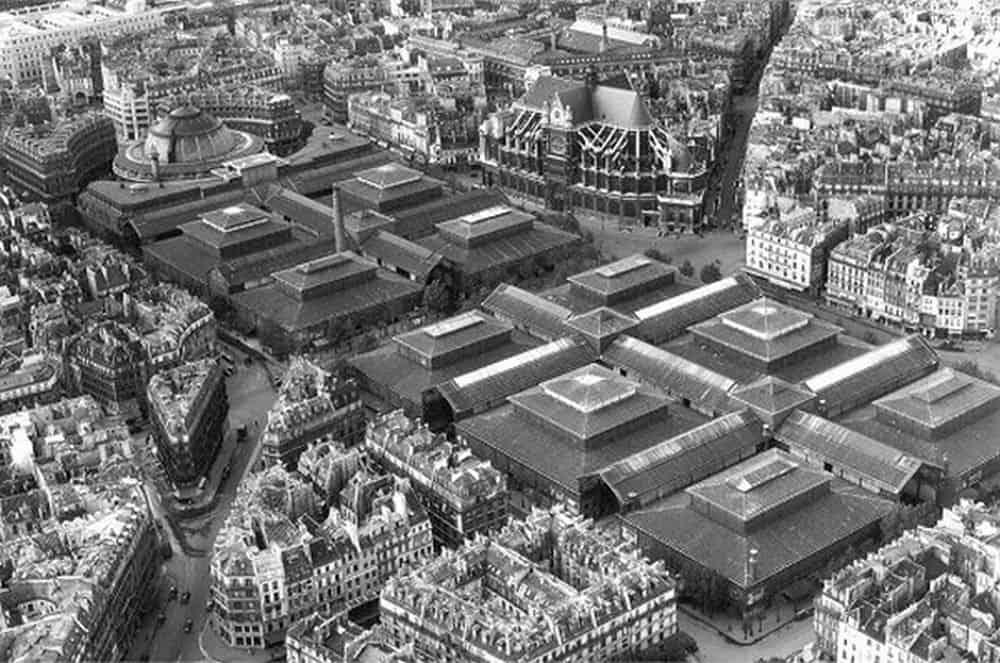 По проекту архитектора Виктора Бальтарда было построено десять огромных павильонов из вошедшего в моду железа, и рынок Les Halles (Ле Аль) приобрел статус главного в городе.